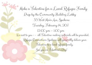 Make a Valentine for a Local Refugee Family @ Community Building  | Spokane | Washington | United States