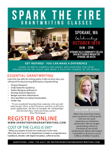 Spark the Fire Essential Grantwriting @ Spokane Falls Community College | Spokane | Washington | United States