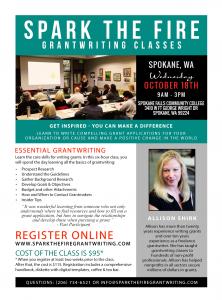 Spark the Fire Essential Grantwriting Class @ Spokane Falls Community College | Spokane | Washington | United States